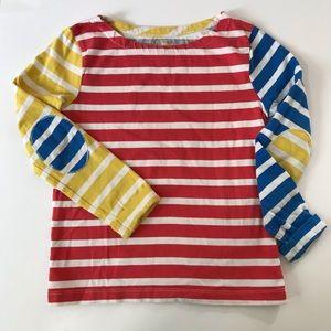 Mini Boden striped primary colors shirt. Sz 6-7